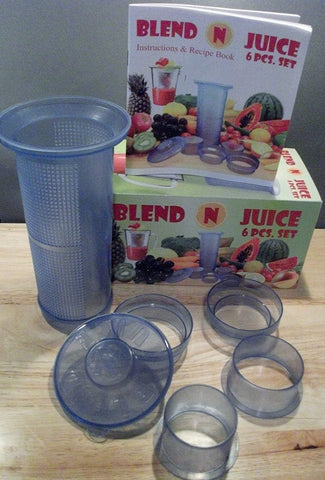 Blend N Juice 6 Piece Set with Recipe Book
