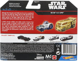 Hot Wheels Star Wars Rogue One Battle Damaged C-3P0 and R2-D2 Character Car (2-Pack)