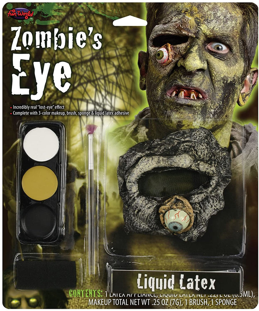 Fun World Zombie's Eye Latex Makeup Kit - ST