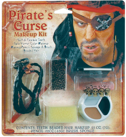 Fun World Women's Pirate Horror Character Kit, Multi, Standard