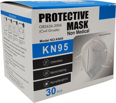 KN95 Folding Dust Respirator - 30 Count