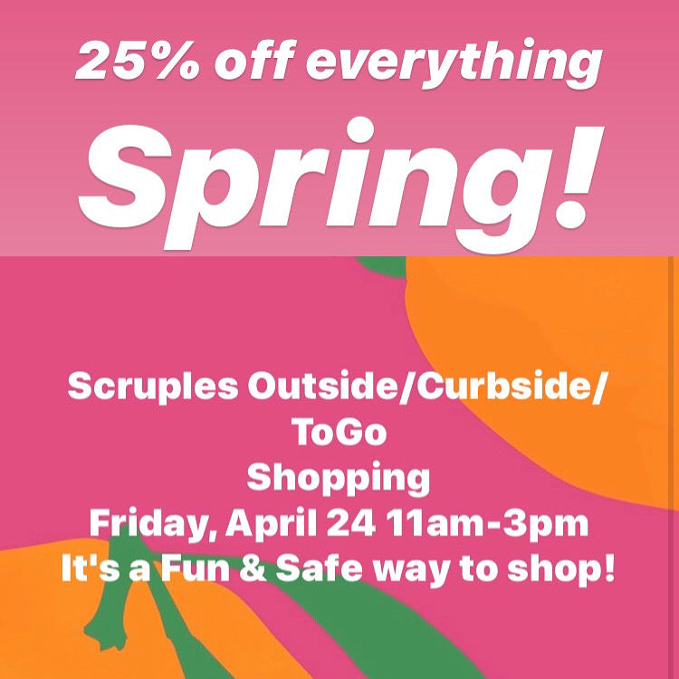 25% off everything Spring!