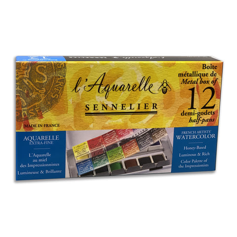Sennelier Watercolor Half Pan Set