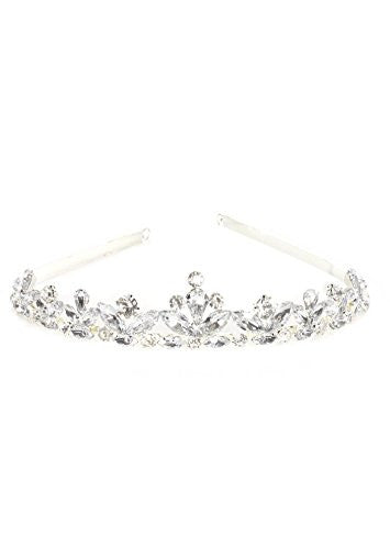 Crystal Tiara Headpiece Hair Band Fashion Headband Silver Tone HA14 Jewelry