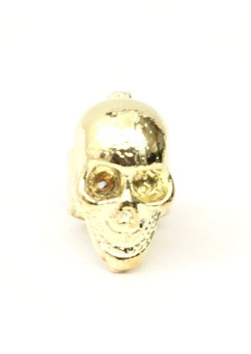 Skull Ear Cuff Metal Wrap Gold Tone Skeleton Earring CA03 Gothic Punk Fashion Jewelry