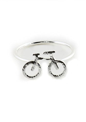 Bicycle Ring Silver Tone Dainty Bike RM02 Statement Fashion Jewelry