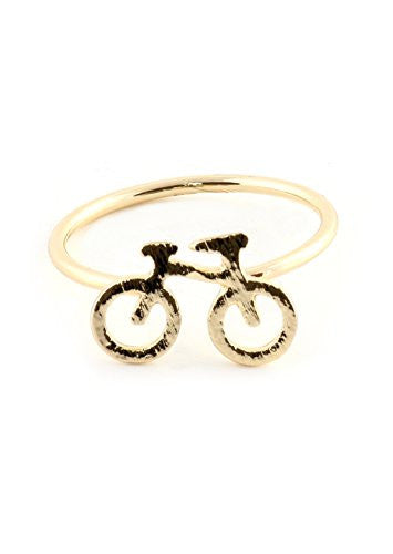Bicycle Ring Gold Tone Dainty Bike RM01 Statement Fashion Jewelry