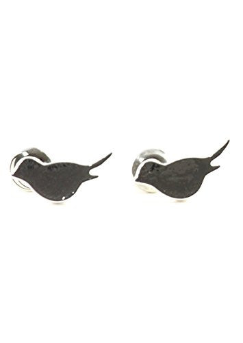 Bird Stud Earrings Silver Tone EJ39 Cute Animal Nature Fashion Jewelry