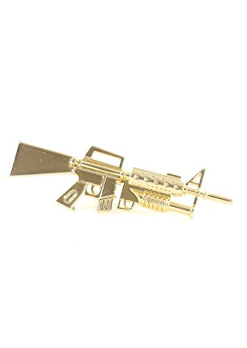 AR15 Rifle Double Ring M16 Military Gun Double Band RK00 Statement Fashion Jewelry