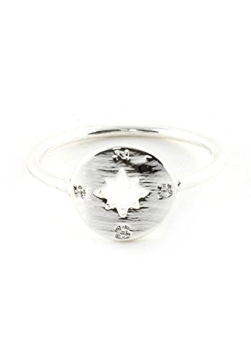 Atlas Compass Ring Silver Tone Map RM07 Cardinal Directions Statement Fashion Jewelry