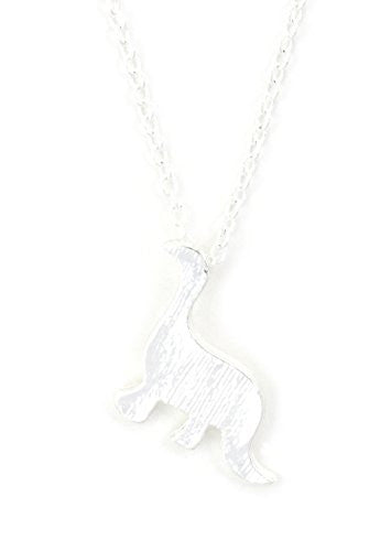 Dinosaur Necklace Brachiosaurus Necklace Silver Tone NU39 Statement Fashion Jewelry