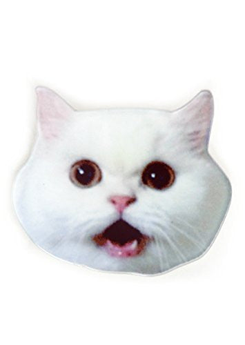 Scared White OMG Cat Brooch Funny Kitty Pin MA06 Fashion Jewelry
