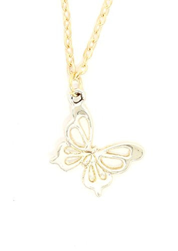 Butterfly Necklace Gold Tone Charm Pendant NR22 Fashion Jewelry
