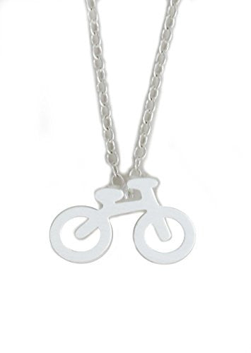 Bicycle Charm Necklace Silver Tone Bike Cyclist Pendant NY25 Fashion Jewelry