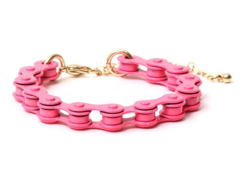 Bicycle Chain Bracelet Neon Pink Bike BB29 Retro Cycling Bangle Cyclist Fashion Jewelry