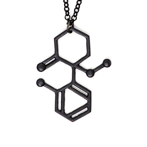 Ketamine Molecule Necklace Black Molecular Structure Medical Sedative Pendant SN44 Fashion Jewelry