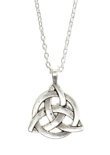 Celtic Knot Medal Necklace Silver Tone Pendant NP03 Fashion Jewelry