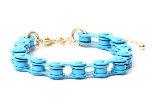 Bicycle Chain Bracelet Neon Electric Blue Bike BB35 Retro Cycling Bangle Cyclist Fashion Jewelry