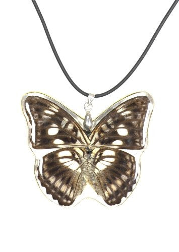 Black Butterfly Pendant Necklace Faux Leather NN40 Fashion Jewelry