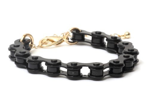 Bicycle Chain Bracelet Black BC21 Retro Cycling Bangle Cyclist Fashion Jewelry