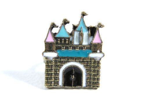 Pretty Princess Castle Ring Adjustable Rainbow Fairy Tale Palace RF19 Fashion Jewelry