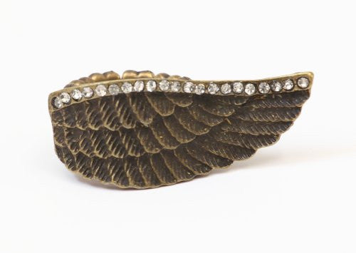 Angel Wing Stretch Ring Antique Gold Tone RB20 Statement Fashion Jewelry