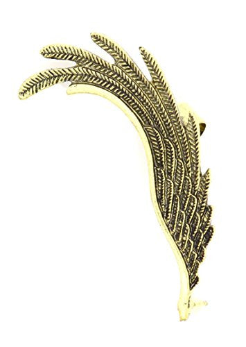 Feathery Wing Ear Cuff Metal Wrap Gold Tone Angel Earring CD41 Fashion Jewelry