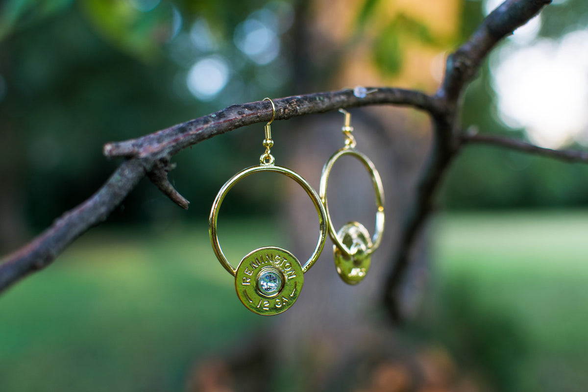 Florence Circle Dangle Earrings with Crystal