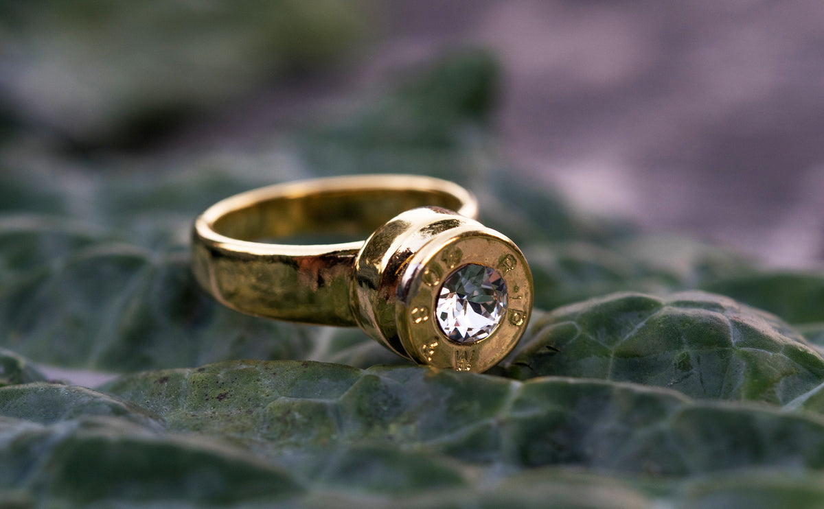 Grace Bullet Ring with Crystal