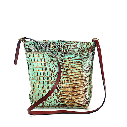 The Patterson Croc Large Crossbody