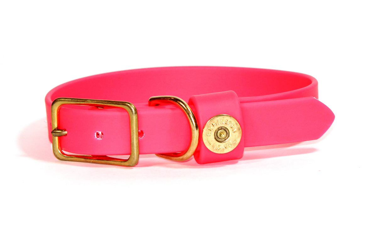 Hunter Pink Dog Collar, Single Shot