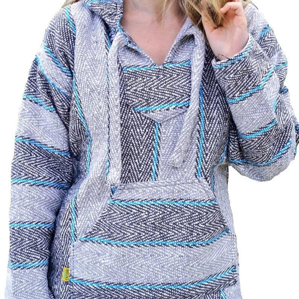 Shop Baja Hoodie Pullovers Drug Rug Poncho Jackets At