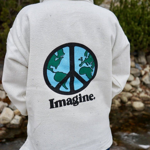 Imagine Peace Baja Hoodie