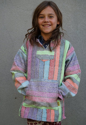 The Kids Baja Hoodie - Multi Rainbow