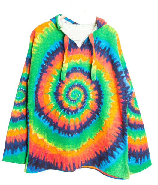 Beautiful Tie Dye Baja Hoodie Drug Rug – Mexican Threads ZF22