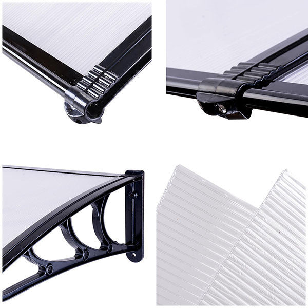 Outdoor Clear PC Awning Canopy Window Door
