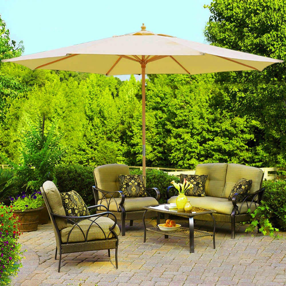 13u0027 Patio Umbrella W/German Beech Wood ...