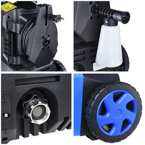Image of Blue Mini 2030psi 1.8gpm Electric Pressure Cleaner Washer 4 Nozzles