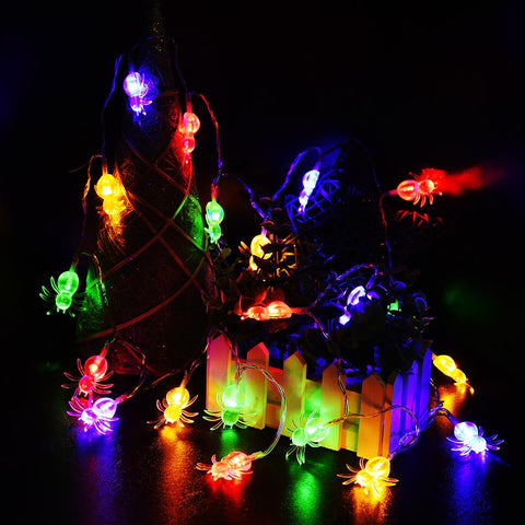 6 1/2 Ft. Halloween Spider String Lights