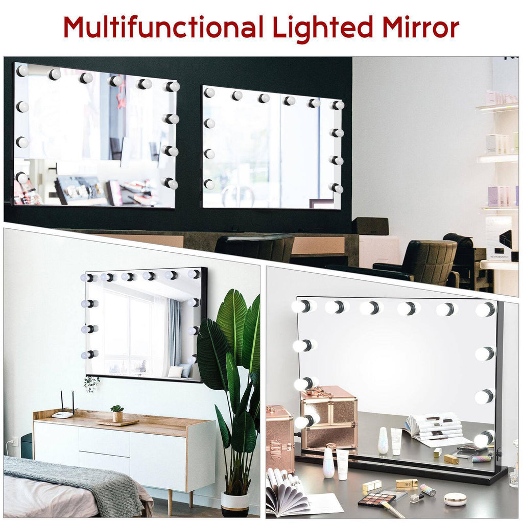 34x26 inches Tabletop and Wall Mount Hollywood Vanity Mirror