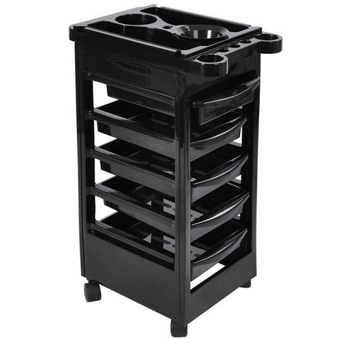 Image of 5 Drawer Salon Trolley Cart