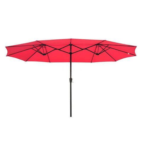 Image of 15x9 ft Patio Umbrella Rectangular with Wind Vent