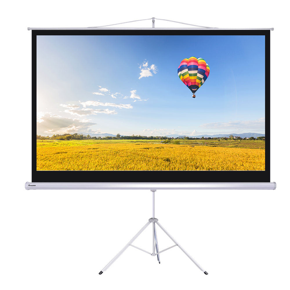 "100"" Projector Screen w/Stand"