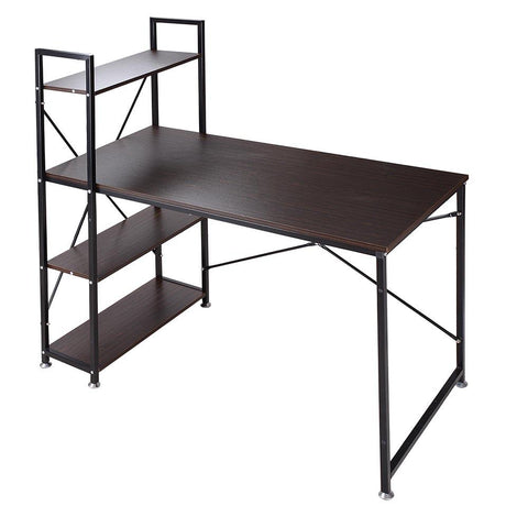 Home Office Desk with 4 Tier Storage Rack