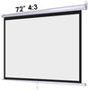 "72"" 4:3 Manual Pull Down Wall Mount Projector Screen"