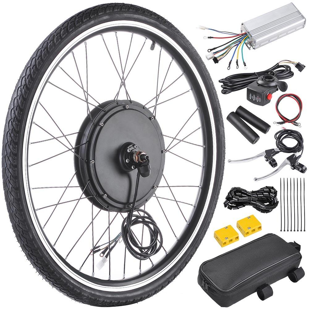 26 inch Front Wheel Electric Bicycle Motor Conversion Kit (48v 1000w)
