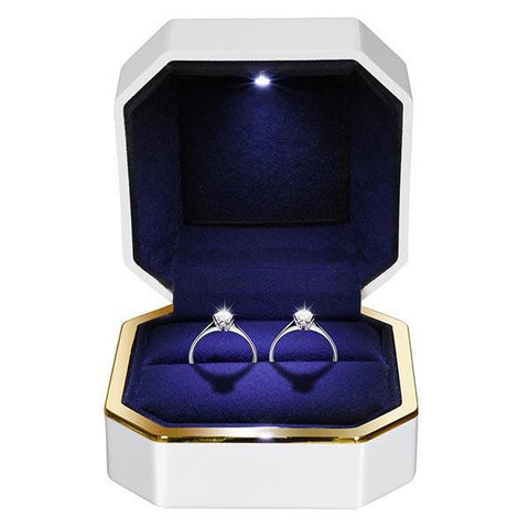 Light Engagement Ring Box - Single/Double