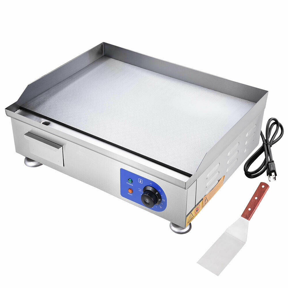 "24"" Food Electric Griddle Countertop Grill Commercial - Stainless Steel"