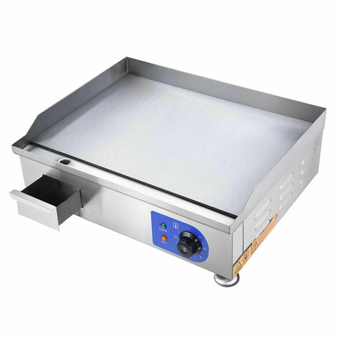 "Image of 24"" Food Electric Griddle Countertop Grill Commercial - Stainless Steel"
