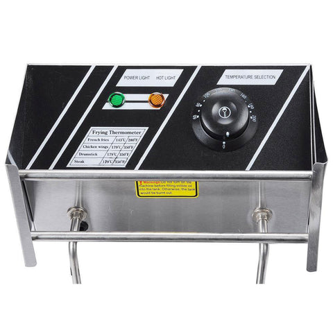 Image of 12L or 6L (Liter) Commercial Electric Countertop Dual or Single Deep Fryer